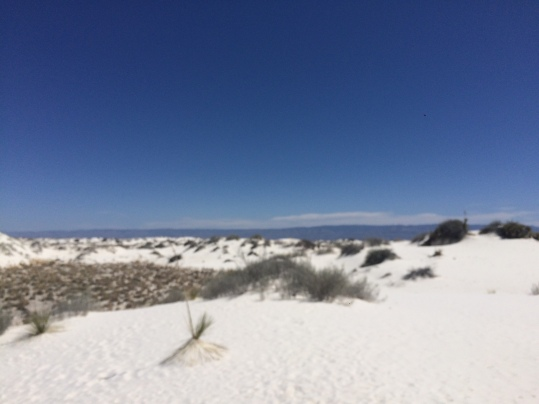 The white sand is made from gypsum and is super soft.