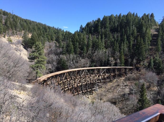 Train bridge from the old Alamogordo-Sacramento line in Cloudcroft