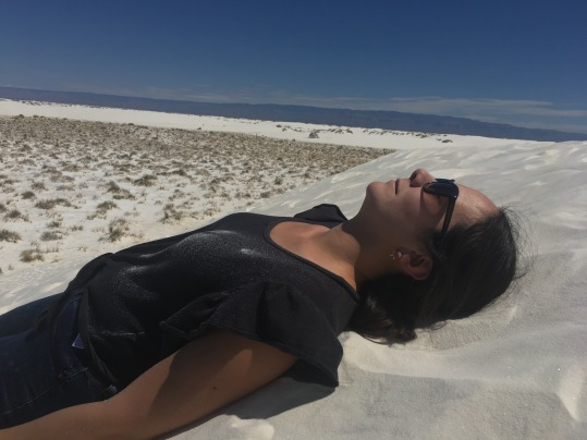 Just chilling on the sand