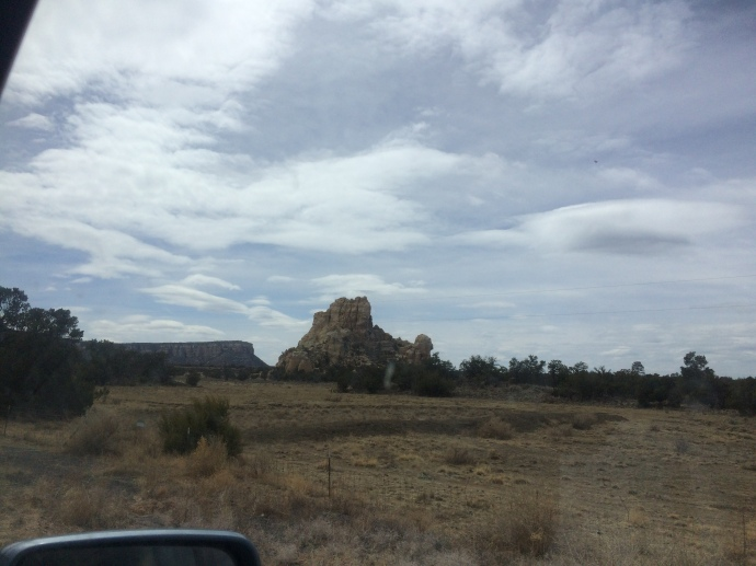 The view of El Malpais National Monumentfrom the road