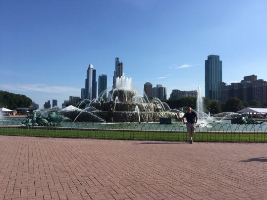 Buckingham Fountain and the skyline