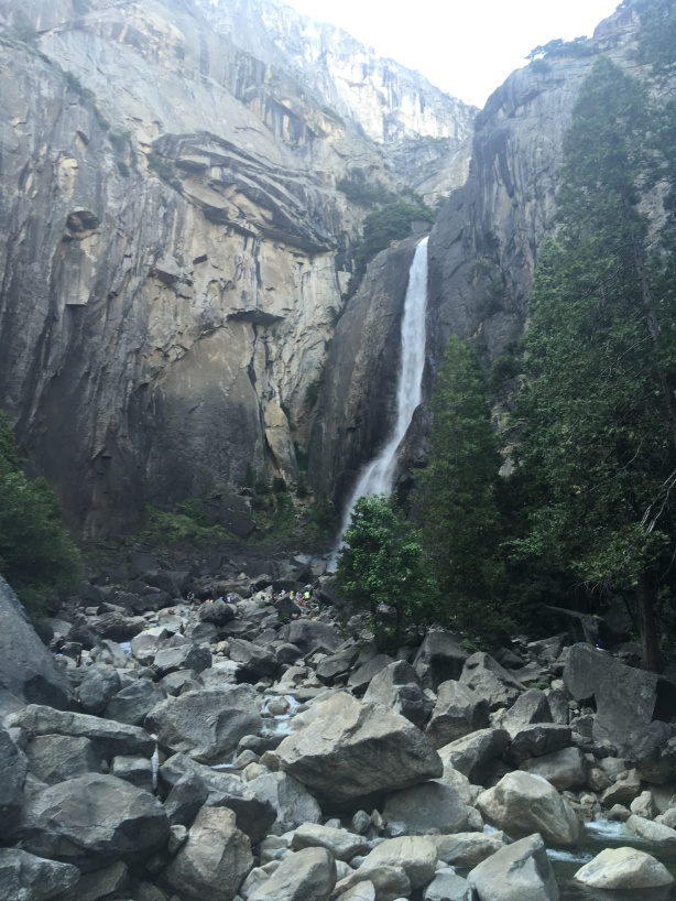 I've never seen a waterfall that high.