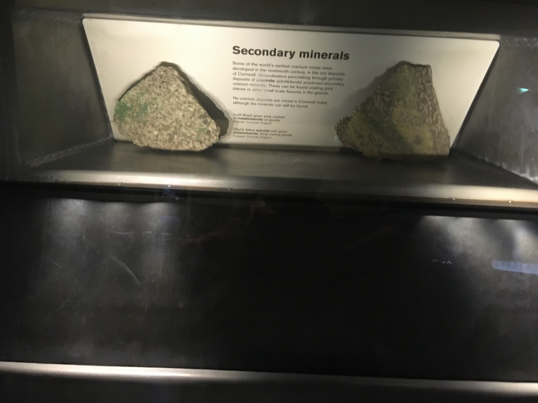 Nate got a photo of the reflection of uranium. It was shielded so as to prevent exposure to radioactivity.